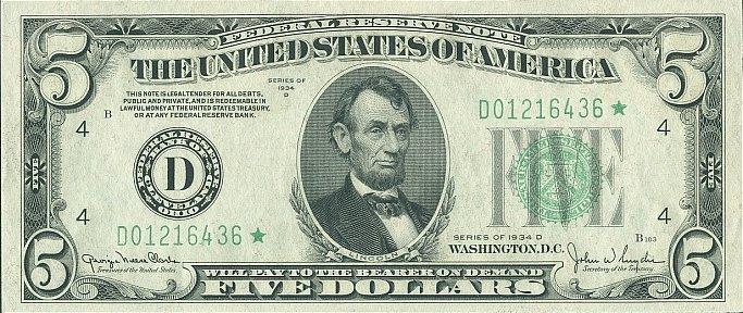 5 долларов США